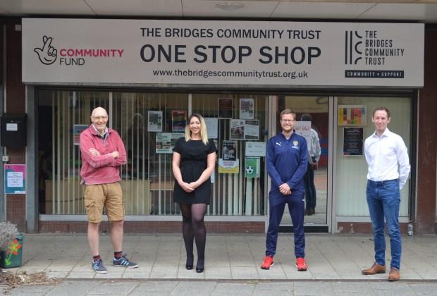 Notts County Foundation_(L to R) Chris Henderson, Sarah Robertson, Sam Crawford, Mark Hawkins-7ab732c8