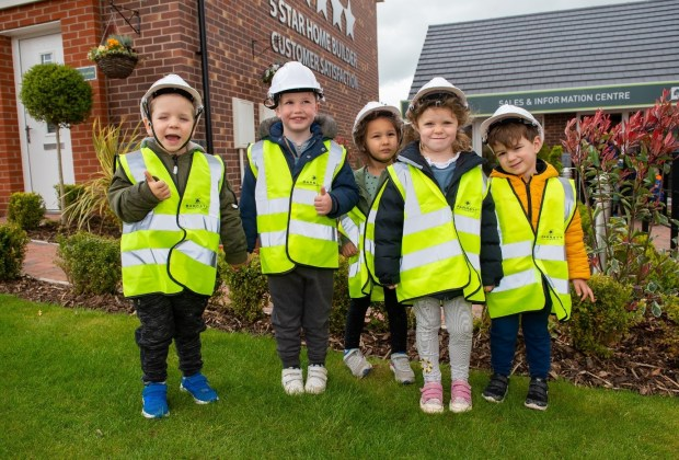 SGB_9939 - BWM - Children from Busy Bees Nursery in their special PPE at Hawk Rise - SM-08b7214a