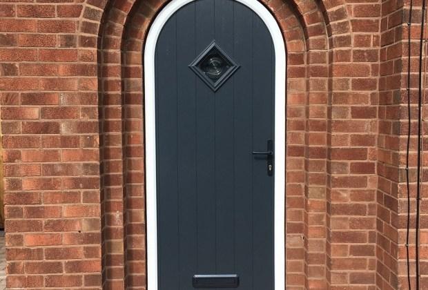 Anthracite Grey Arch-Top Composite Door  Solidor Flint model 1-ba0017cf