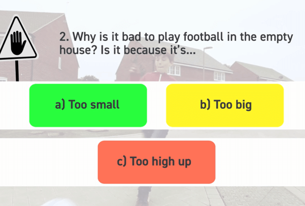 BG - A quiz question for school pupils completing the site safety activity-f6cbbb9f
