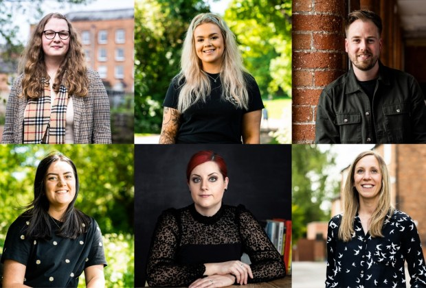 Top row left to right Jess Johnson, Lauren Brewell and Rob Morton. Bottom row L-R Hope Crosby, Rosie Blackwall and Kate Barton (1280x787)-378f58e4