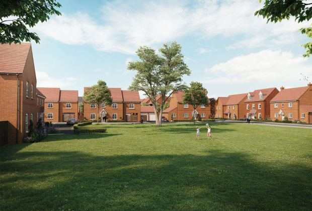 A computer-generated image of Bellway's Stoughton Park development in Oadby, where two showhomes are due to open on Saturday 16 October.-70d6348a