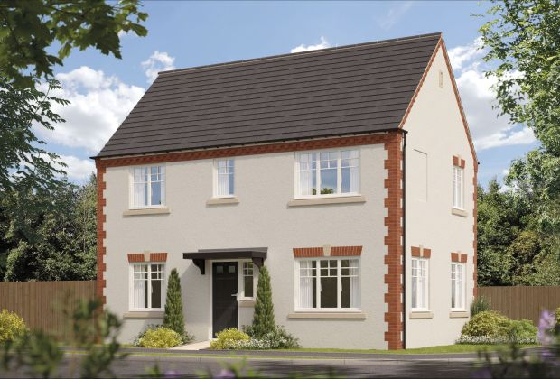 A computer-generated image of a Hawthorn house type, one of the homes being built at Hatton Court-20a03492