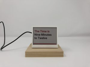 THE' - Time, Headlines, Environmental Data Display - Front Time