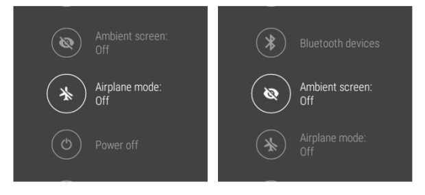airplane ambient mode