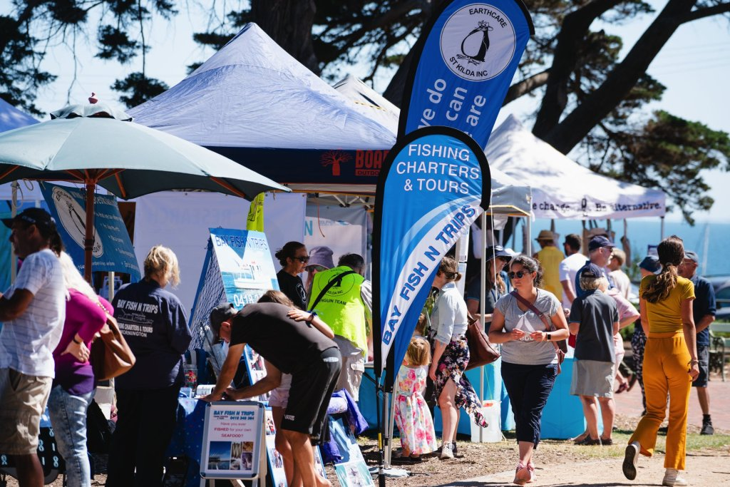 Earthcare St Kilda and Bay Fish N Trips were two other stallholders who took part in Day by the Bay Mornington. Image: Tim Brown
