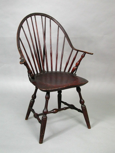 windsor chair with arms cheap acrylic chairs american made in connecticut connecticuthistory org arm by amos denison allen windham ct about 1800