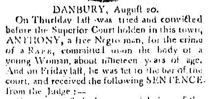 Danbury Hangings: The Executions of Anthony and Amos