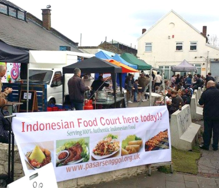 Our very 1st successful Indonesian Food Court in London – April 2015