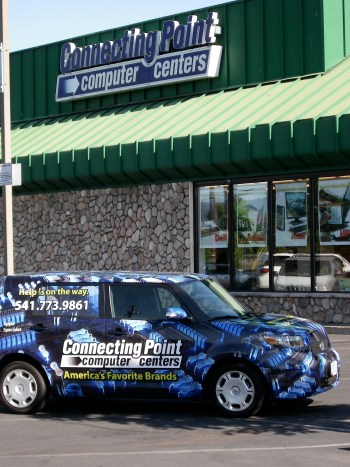 Connecting Point Computer Centers onsite service vehicle