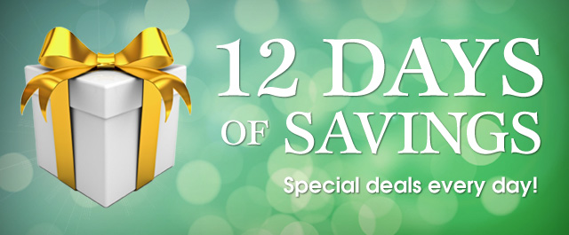 "Connecting Point presents ""12 Days of Savings 2014"" - Special deals every day!"