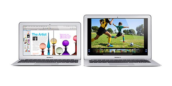 Apple MacBook Air 11- and 13-inch models, side-by-side
