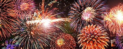 Fireworks display - original photo ©2003 Daisuke Tomiyasu