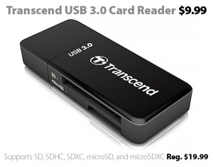 Transcend USB 3.0 Card Reader for $9.99 at Connecting Point