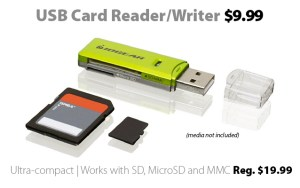 IOGEAR USB Card Reader-Writer for $9.99 at Connecting Point
