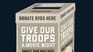 Give our troops a movie night - bring your DVDs into Connecting Point