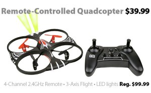 Remote-Controlled Quadcopter for $39.99