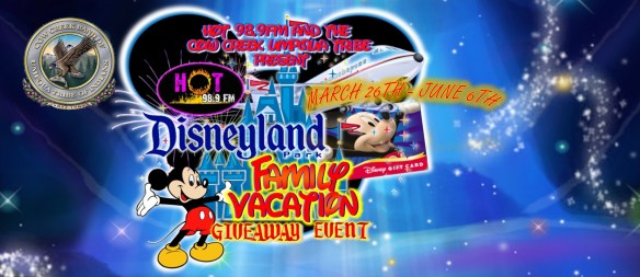 Disneyland Family Vacation for four giveaway, courtesy Connecting Point and Hot 98.9 FM