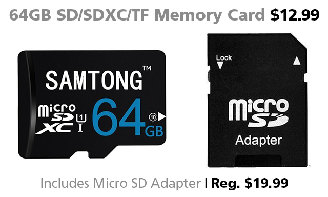 memory card DOTW Deal of the Week 64GB Micro SD card sale bargain Connecting Point Medford OR