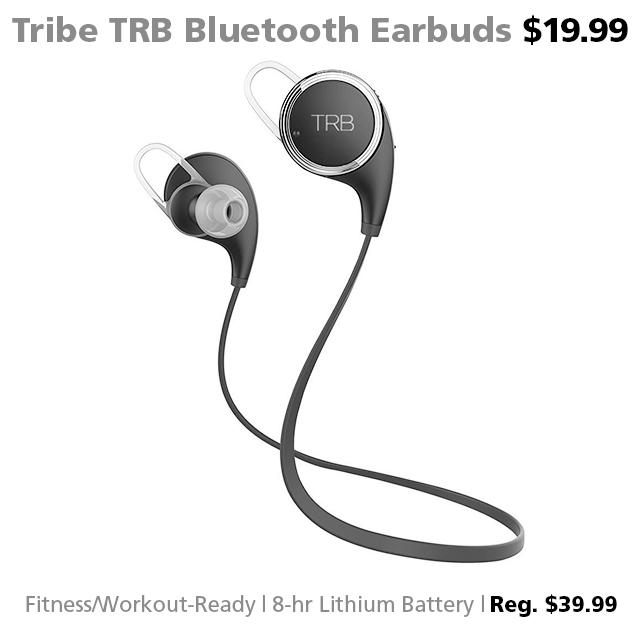 DOTW TRB Tribe Bluetooth Sport Earbuds $19.99 reg. $39.99