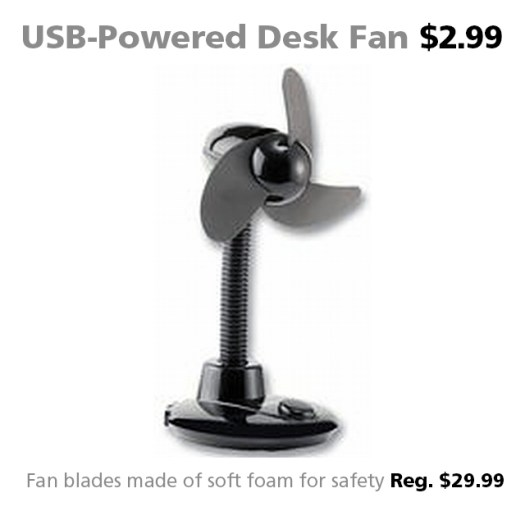 Connecting Point's Deal of the Week - USB-Powered Desk Fan for $6.99