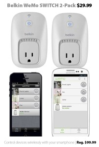Belkin WeMo SWITCH 2-Pack for $29.99 (reg. $99.99)