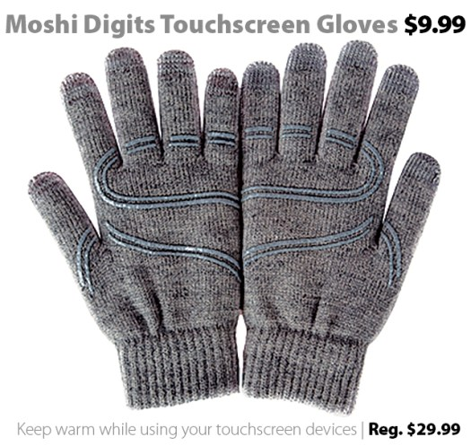 Moshi Digits Touchscreen Gloves on sale for $9.99 (reg. $29.99)