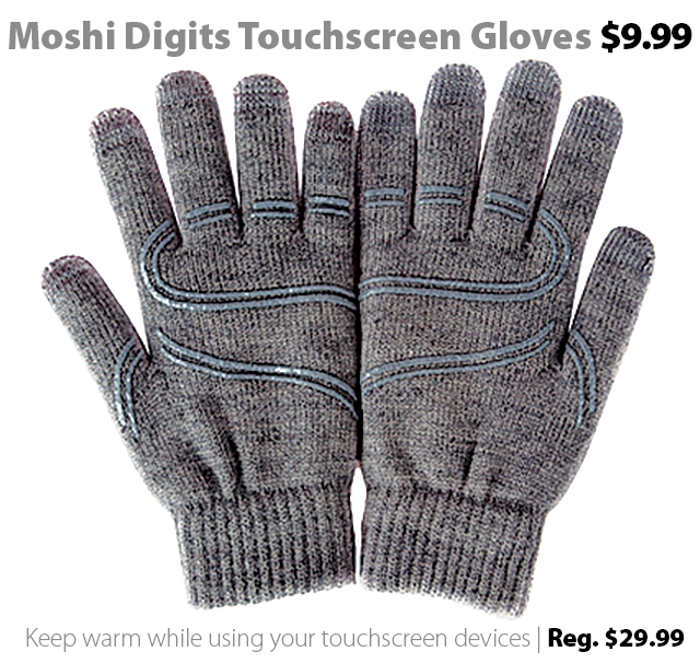 Deal of the Week | Dec. 18th, 2015: Moshi Digits Touchscreen Gloves for $9.99 (reg. $29.99)