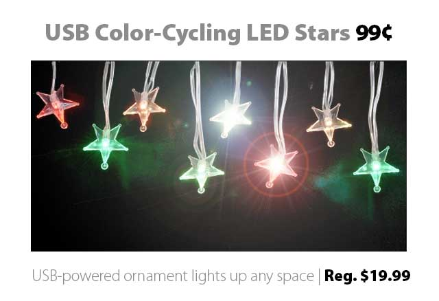 Deal of the Week | Nov. 6th, 2015: USB-Powered LED Stars for 99¢ (reg. $19.99)