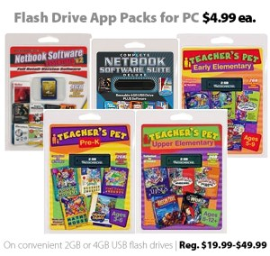 Flash Drive App Packs for PC for $4.99 each