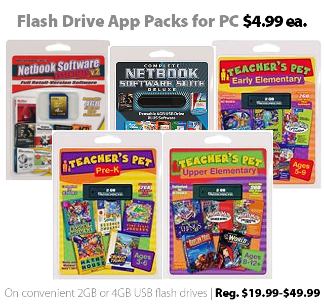 Deal of the Week | Nov. 13th, 2015: Flash Drive PC App Packs for $4.99 (reg. $20-$50)