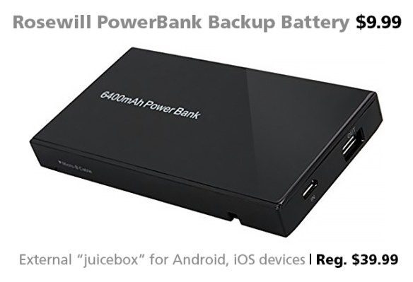 Rosewill CHiC PowerBank 6400 mHa battery backup for $9.99 (reg. $39.99)