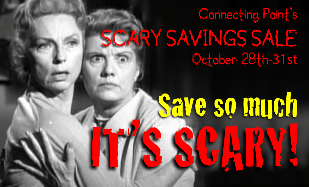 BANNER for Connecting Point's SCARY SAVINGS SALE 2016
