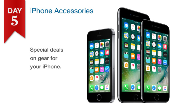 12 DAYS OF SAVINGS – DAY 5 (Saturday, Dec. 17th): 25% All iPhone Accessories In Stock