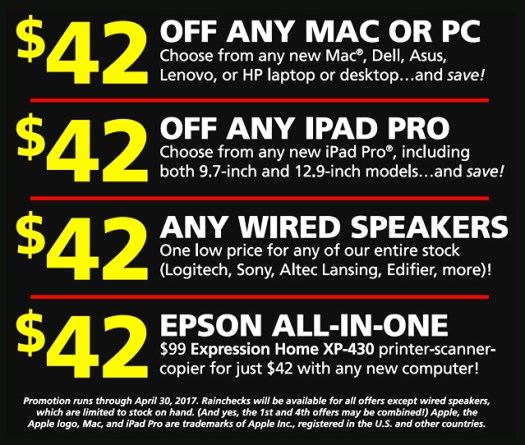 birthday Connecting Point 42 years anniversary new location Mac PC iPad sale