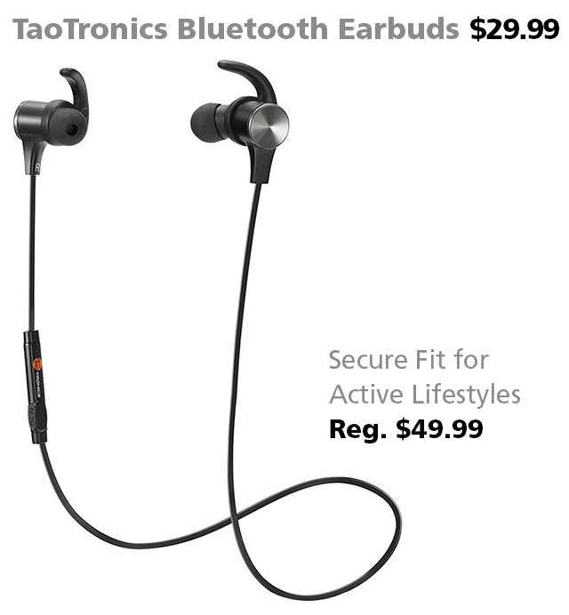 TaoTronics Bluetooth Earbuds DOTW Deal of the Week Connecting Point
