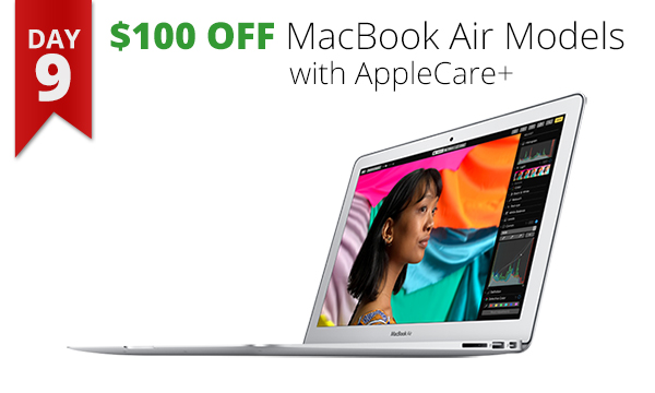 $100 off MacBook Air AppleCare+ sale bargain deal Mac Rogue Valley southern Oregon Medford Connecting Point laptop
