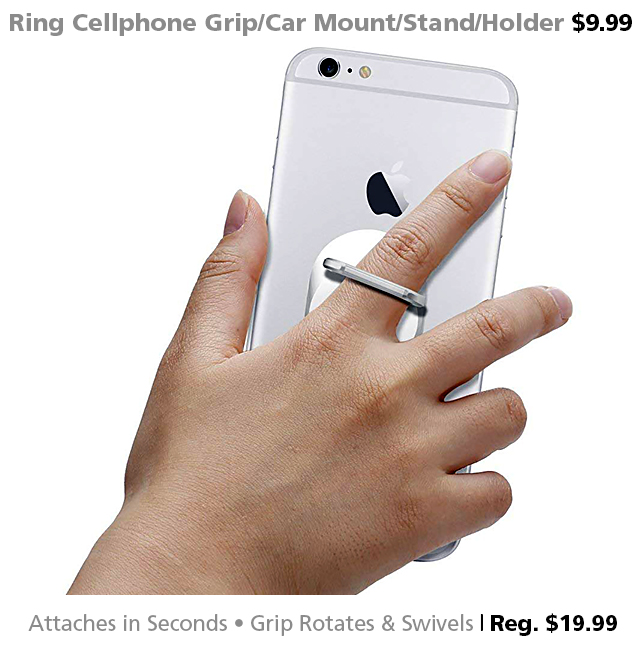 DOTW deal of the week Spigen Style Ring Cellphone Grip Stand Car Mount iPhone Android Connecting Point Medford Oregon Rogue Valley