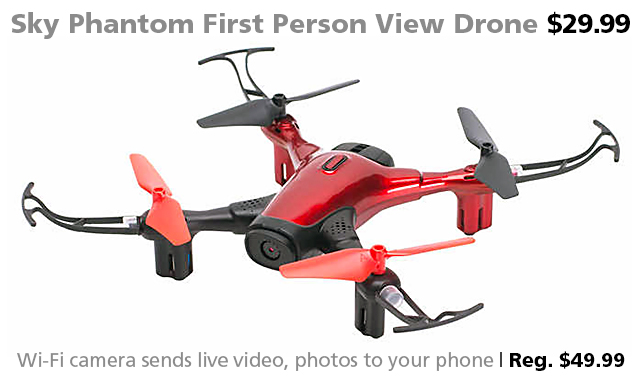 DOTW deal of the week bargain FPV drone Wi-Fi quadcopter Sky Phantom sale Syma Connecting Point Medford Oregon Rogue Valley