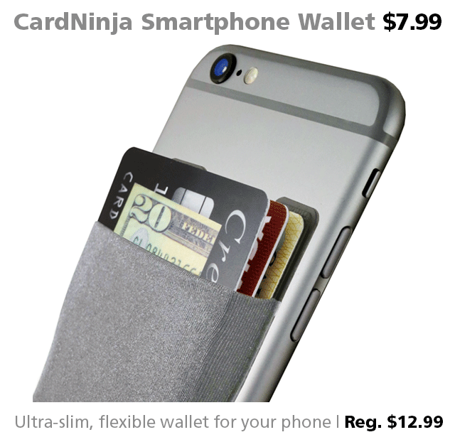 CardNinja smartphone wallet DOTW deal of the week Connecting Point bargain sale iPhone accessories Medford Oregon Rogue Valley