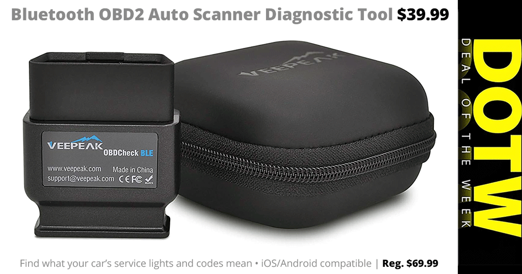 Weekly DEAL 8/919: Bluetooth OBD2 Auto Diagnostic Tool $40