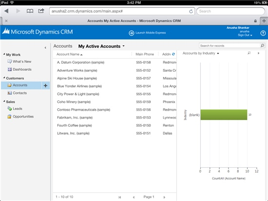 CRM On the iPad!