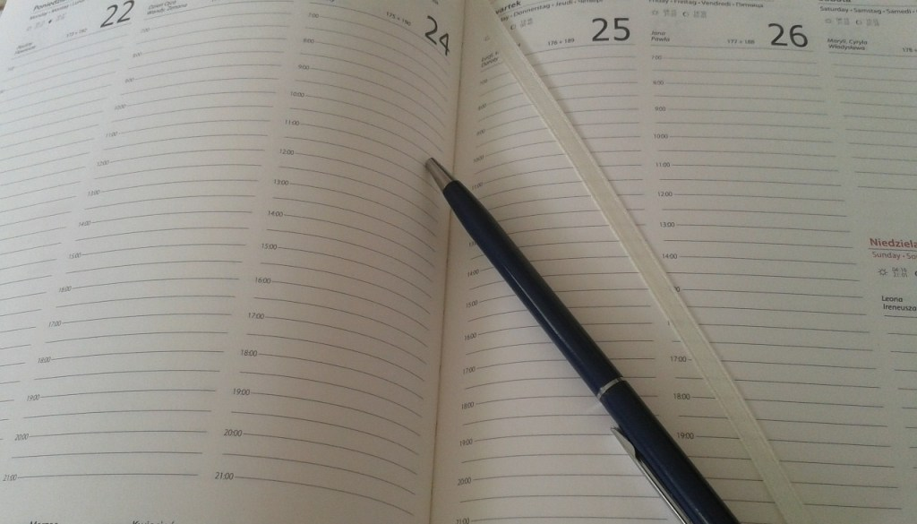 time management by planning the week