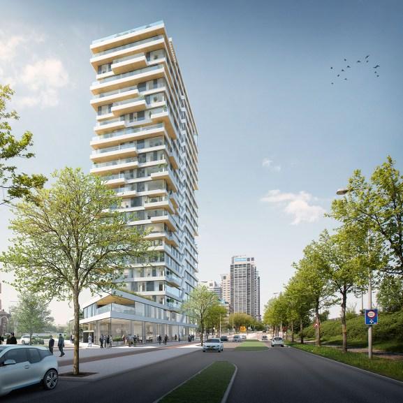 HAUT es un rascacielos de madera de 21 plantas que se contruirá en Amsterdam.