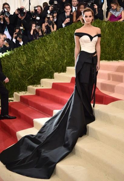 Emma Watson, pionera en llevar un vestido de material reciclado en la red carpet.