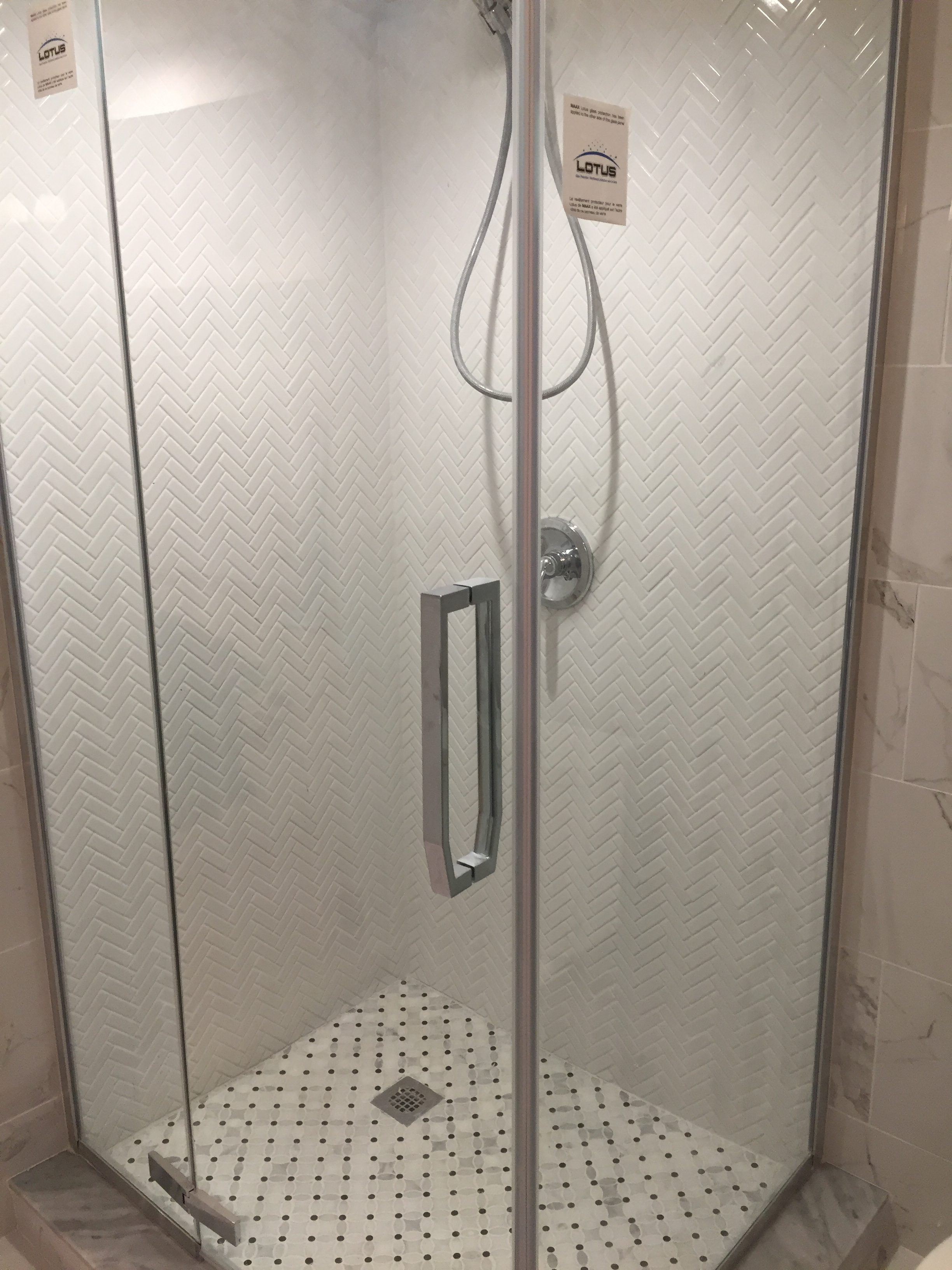 Bathroom tile installer