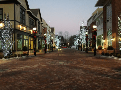 Armonk Central Square at Night