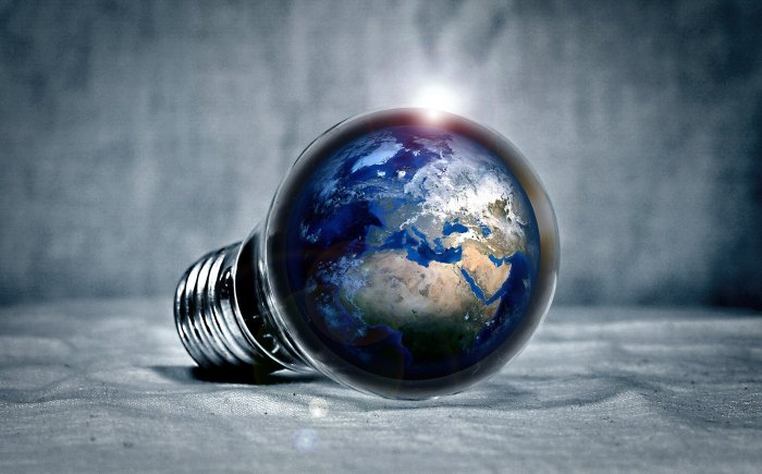 generational difference article: Earth inside a lightbulb
