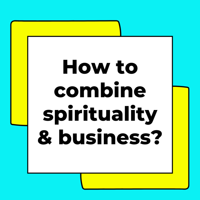 How to combine spirituality and business?