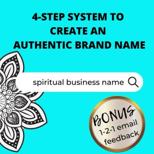 spiritual business brand name worksheet